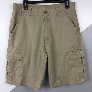 "Wrangler 32"" Classic Cargo Shorts Khaki Tan"